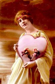 Una de las primeras tarjetas postales de San Valentín